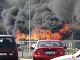 Požár benzinky v Kladně