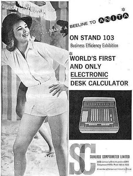 Reklama na ANITA kalkulátory (1962)
