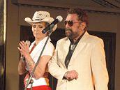 Waldemar Matuška s manželkou Olgou během koncertu na Žofíně