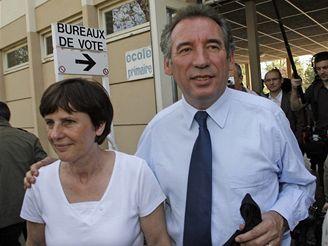 Francois Bayrou s manželkou Elisabeth