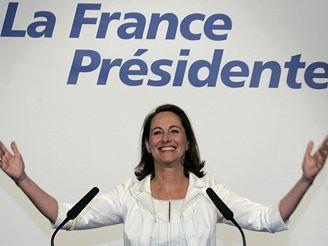 Ségolene Royalová po vyhlášení výsledků prvního kola prezidentských voleb