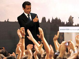 Nicolas Sarkozy po vyhlášení výsledků prvního kola prezidentských voleb