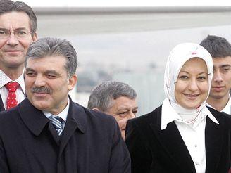 Abdullah Gül s manželkou