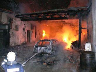 požár usedlosti v Liptálu na Vsetínsku