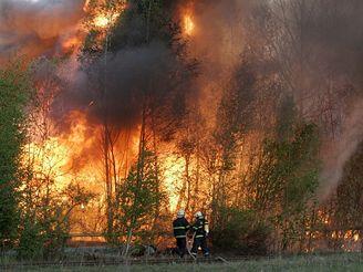 Požár bývalého podniku Škoda v Českých Budějovicích.