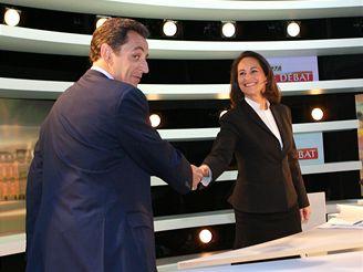 Ségolene Royalová a Nicolas Sarkozy