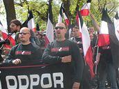 Prvomájový pochod neonacistů Brnem