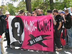 Prvomájový pochod neonacistů v Brně