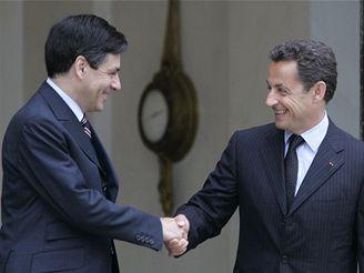 Nicolas Sarkozy a Francois Fillon