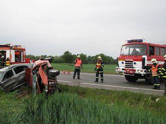 Tragická nehoda u Pohořelic na Břeclavsku