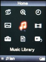 Sony NW A800 displej