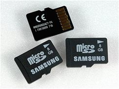 Paměťová karta microSD s kapacitou 8 GB