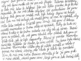 část dopisu