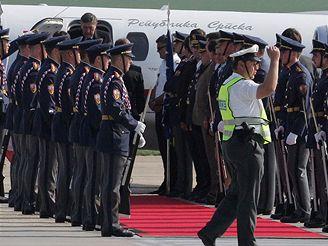 Prezident Bosny a Hercegoviny Nebojsa Radmanovič po příletu do Brna