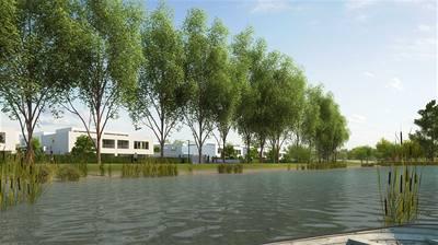 Terasy Unhošť - bydlení na okraji města s dominantou rybníka