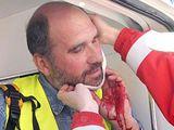 Fotoreportér Lubomír Kotek zraněný výbuškou