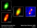 Infračervené snímky disku kolem hvězdy Fomalhaut (Spitzer)