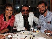 Waldemar Matuška se svou rodinou - manželkou Olgou Blechovou a synem Waldemarem