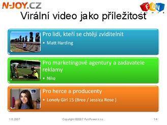 N-Joy ukazuje možosti tzv, virálního videa