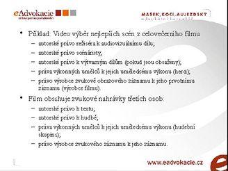Jaká autorská práva lze porušit v ukázce z filmu