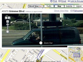 Google Van - odraz