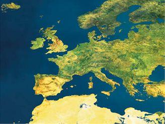 Evropa z evropské družice Envisat