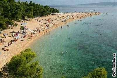 Kliknutím zobrazíte větší formát - Chorvatsko, ostrov Brač - pláž Zlatni rat