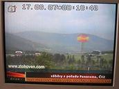 Video - Fiktivní výbuch atomové bomby v Krkonoších (Zprávy ČT24)