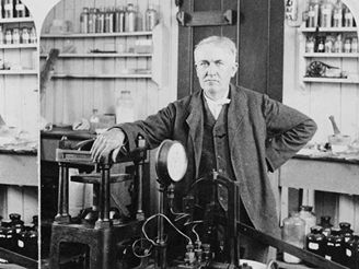 Thomas A. Edison in his laboratory in New Jersey, 1901