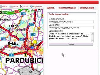 Pošli odkaz mailem (mapy.idnes.cz)