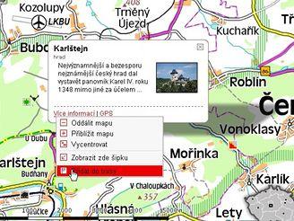 Přidáme Karlštejn do trasy (mapy.idnes.cz)
