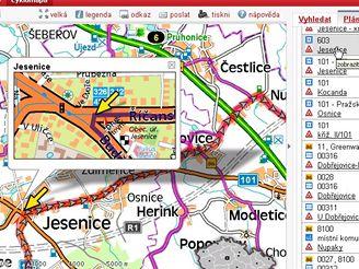 Detail nalezené trasy  - křižovatka (mapy.idnes.cz)