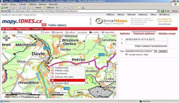 Další přidání (mapy.idnes.cz)