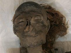 Mumie královny Hatšepsut, uložená v muzeu v Káhiře.