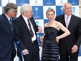 MFFKV - Jiří Bartoška, Břetislav Pojar, Renée Zellweger a Václav Klaus