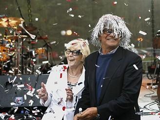 MFFKV - media party - Eva Zaoralová a Jiří Bartoška