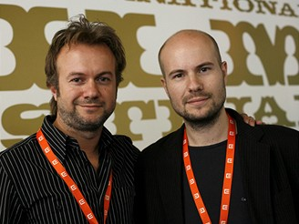 MFFKV - delegace k filmu Pudor (Ostych) - Tristán Ulloa a David Ulloa