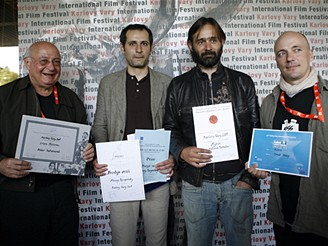 MFFKV - předávání nestatutárních cen za filmy Kapela přijela, Prosté věci, Severní blata a Karger