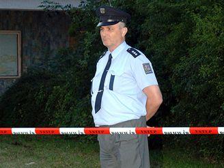 Policie na místě nálezu části mrtvoly