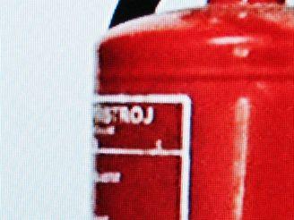 hasicí přístroj Blu-ray - detail