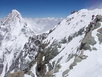 Pohled na K2 z Broad Peak
