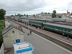 Nádraží v Kotlasu, Rusko