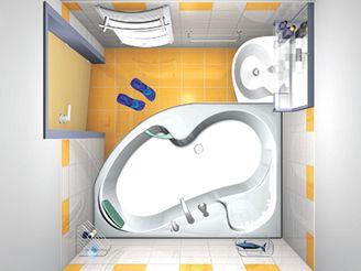 Malá paneláková koupelna