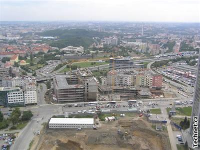 Stavební ruch na pankrácké pláni