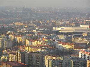 Kongresové centrum a Pražský hrad