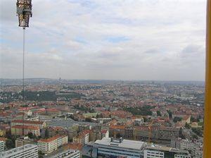 Výhled na vysílač Praha Město