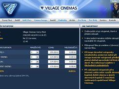 Lístky do kina v mobilu