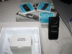Mobilní telefony ze sbírky Petra Švábeníka