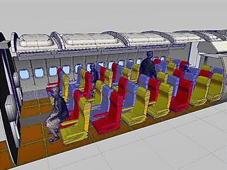 Letiště - vizualizace boeingu k natáčení druhé řady seriálu