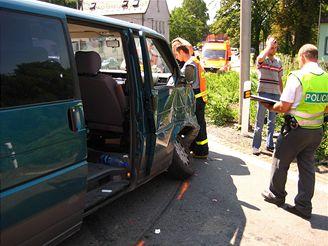 nehoda sanitky v Třinci